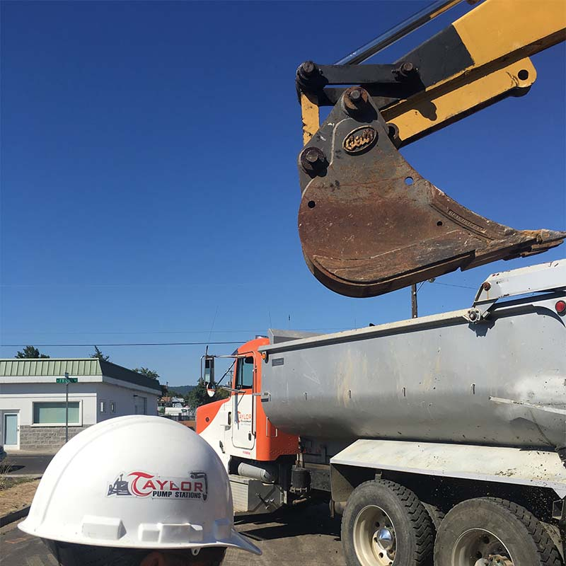Backhoe/Excavator Service Work - Taylor Site Development inc